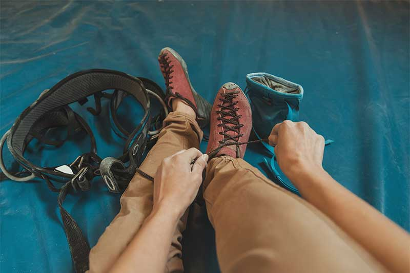 Foot care for climbers