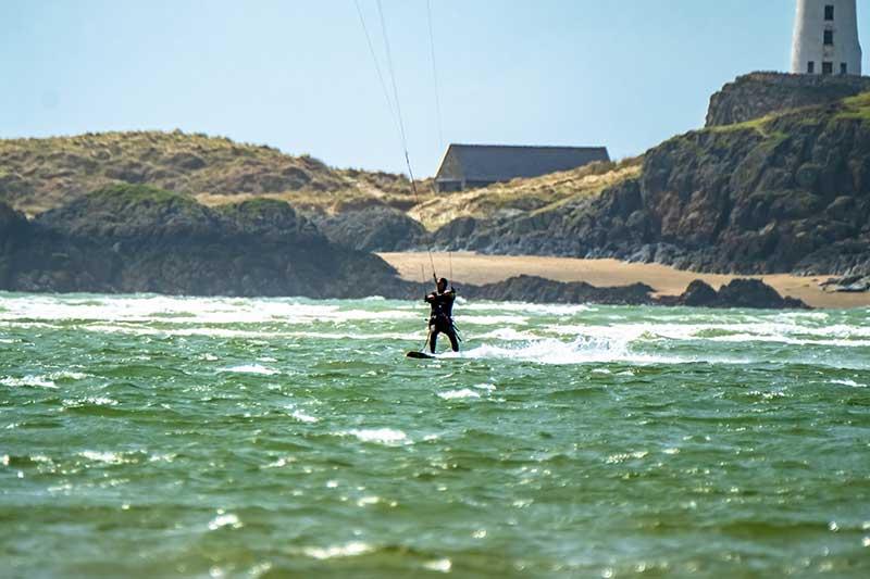 Kite surfer in Wales