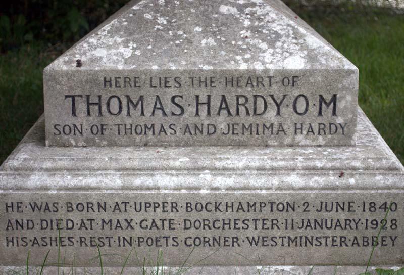 Thomas Hardy's headstone