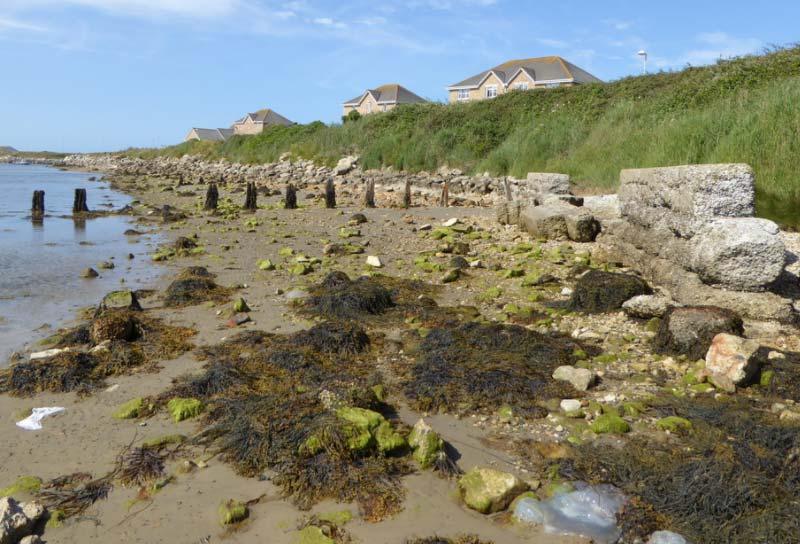 Whitehead torpedo pier remains