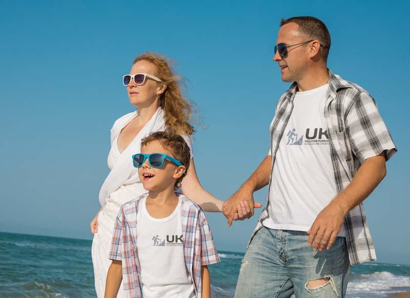 Family holiday next to the sea