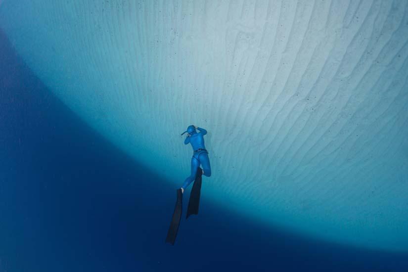 The Frenzel maneuver - diving