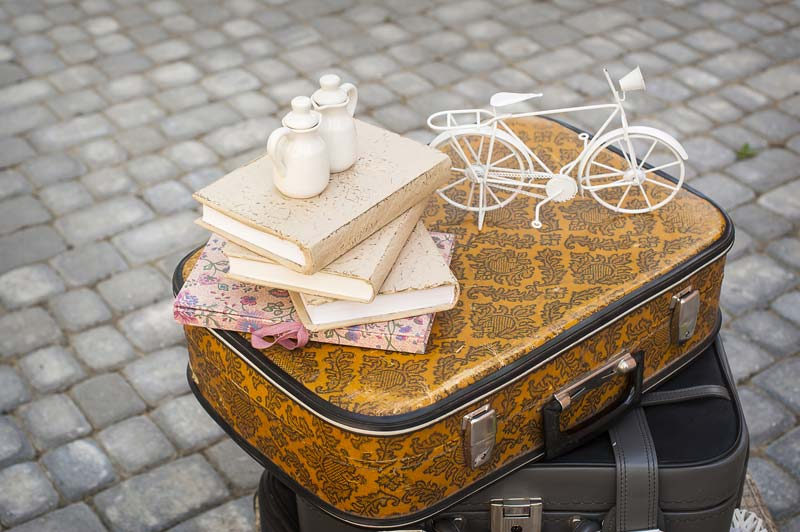 Traditional suitcase for travel